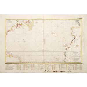 Carte réduite d'une partie de l'Ocean Atlantique.
