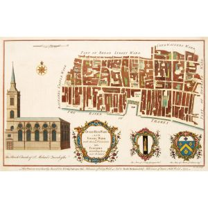 QUEEN HITH Ward and VINTRY Ward. with their Division into Parishes taken from the last Survey