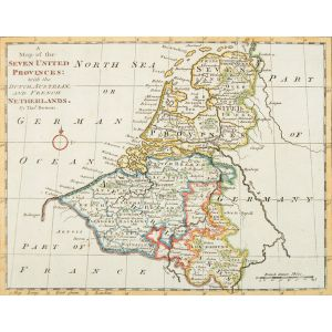 A Map of the Seven United Provinces: with the Dutch Austria and French Netherlands