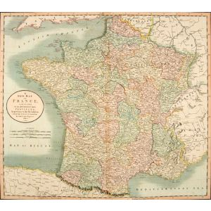 A NEW MAP OF FRANCE AGREEABLE to its DIVISION into PROVINCES, As Previous to the Revolution FROM THE LATEST AUTHORITIES.