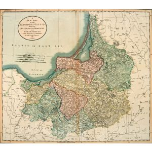 A NEW MAP OF THE KINGDOM OF PRUSSIA, WITH ITS DIVISIONS INTO PROVINCES AND GOVERNMENTS; FROM THE LATEST AUTHORITIES.