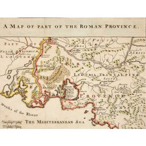 A MAP OF PART OF THE ROMAN PROVINCE.