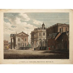 A view of the Theatre, Printing House &c.