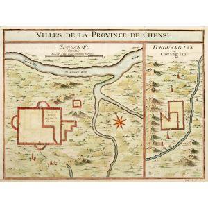 VILLES DE LA PROVINCE DE CHENSI. SI-NGAN-FU Capitale. TCHOUANG LAN ou Chwang lan