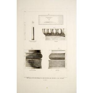 Détails Géométriques des Restes du Temple de Junon.