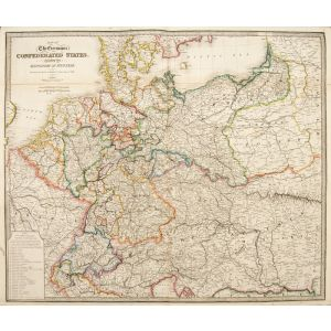 Map of the Germanic Confederated States including the Kingdom of Prussia