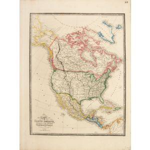 Map of North America,