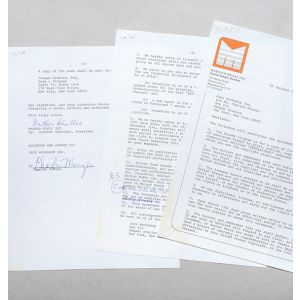Signed contract for the publication of Revelations.