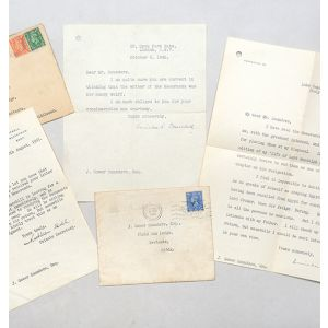 Two typed letters signed to J. Gower Saunders. Regarding a Memoranda concerning the publication of the 'Life of Lord Randolph Churchill'. Together with a letter from Churchill's private secretary.