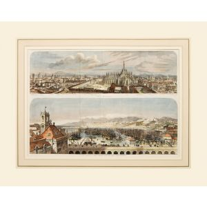 View of Milan & The Harbour of Genoa.