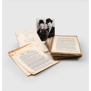 A collection of original Laurel and Hardy scenarios and scripts from the files of the Hal Roach studio.