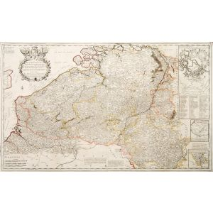 A Most Exact Map of Flanders or Austrian Netherlands &c..