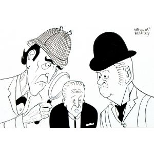 Sherlock Holmes and Dr Watson investigate David Frost.