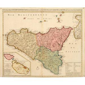 Insulae et Regni Siciliae Novissima Tabula...