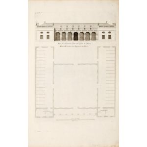 Plan and elevation of the out offices at Wilton.