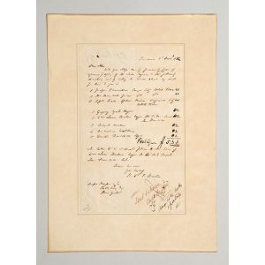 Autograph letter signed, with instructions to Messrs Harper & Co. to send out copies of The Lake Regions.
