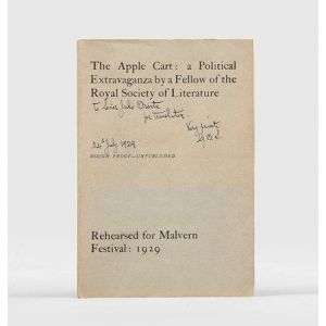 The Apple Cart: A Political Extravaganza by a Fellow of the Royal Society of Literature.