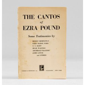 The Cantos. Some Testimonies by Ernest Hemingway,