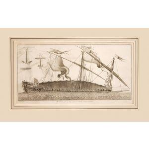 Marine, Dessein d'une Galere à la Rame nommée la Réale.