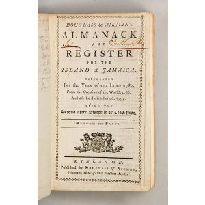 Douglass & Aikman's Almanack and Register for the Island of Jamaica: