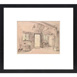 """Original preliminary drawing for Ingoldsby Legends. """"The Kitchen."""""""