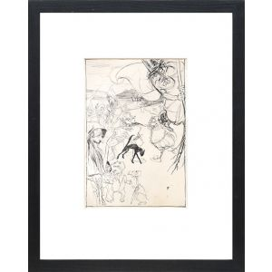 """Original preliminary drawing for Ingoldsby Legends. """"Witches and Warlocks, Ghosts, Goblins and Ghouls."""""""