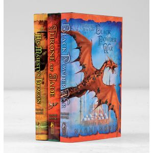 Temeraire: Book One, His Majesty's Dragons; Throne of Jade; Black Powder War.