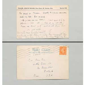 Inscribed postcard.