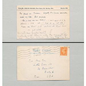 Inscribed postcard.