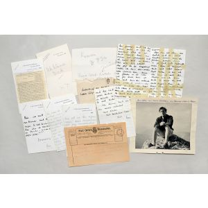 Archive of his correspondence with Edith von Morpurgo, an Austrian girlfriend.
