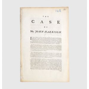 The Case of Mr. John Harrison [drop-head and docket title].