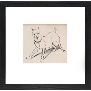 Original ink drawing of a dog.