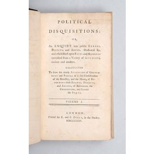 Political disquisitions: or, an enquiry into public errors, defects, and abuses.
