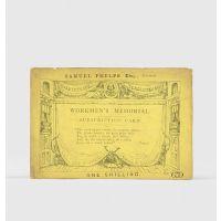 Subscription card for the Shakespeare tercentenary workmen's memorial.