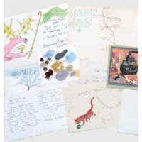 A small archive of Christmas greetings cards and other correspondence.