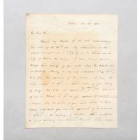 Autograph letter signed, to Henry Charles Carey.