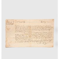 Fully manuscript commission document, signed, appointing Enoch Page a