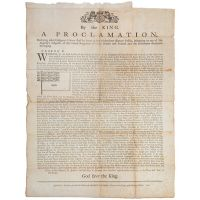 A Proclamation declaring what Ensign or Colours shall be borne at Sea in Merchant Ships or Vessels, belonging to any of His Majesty's Subjects of the United Kingdom of Great Britain and Ireland, and the Dominions thereunto belonging.