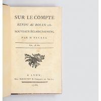 Sur le compte rendu au roi en 1781.