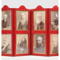 Collection of 12 original cabinet card portraits of figures associated with Charles Darwin: