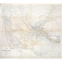 Karta sredney Azia. (Map of Central Asia.)