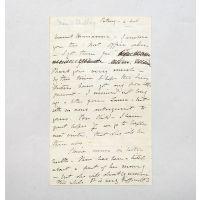 Autograph letter to Marianna Hammond.