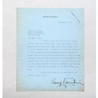 Warm one-page typed letter signed to noted publisher and editor Donald S. Friede.