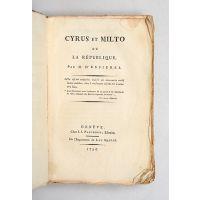 Cyrus et Milto ou La République.