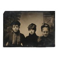 Half plate tintype by a female photographer.