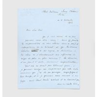 Autograph letter signed to Paul Thun-Hohenstein, one of the last to be written by the poet.