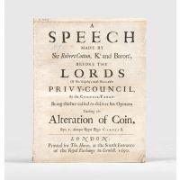 A Speech made by Sir Robert Cotton,