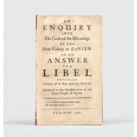 An Enquiry into the Causes of the Miscarriage of the Scots Colony at Darien.