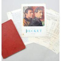 Becket. Original final script for the 1964 film, actor Michael Miller's working copy.
