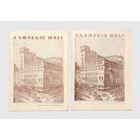 Pair of original Carnegie Hall programmes for 1953-55.